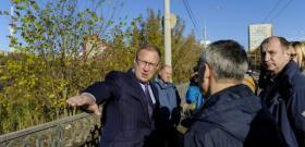 В Перми приведут в порядок тротуар на Северной дамбе